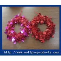 Quality Customized Tinsel Mask Plastic Christmas Magnets for Christmas Tree Decoration for sale
