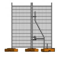galvanized temporary fence drawing