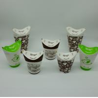 China Exquisite Printing Biodegradable Paper Cups Space Saving Flat Transportation on sale