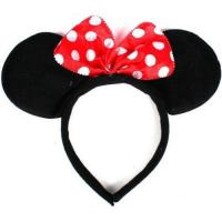 China Disney Headband Hat - Plush Minnie Mouse Ears Costume Accessory With Bow For Party on sale