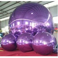 Best 1m and 3m Purple Inflatable Mirror  Ball /Advertising Ball For Decoration And Christmas Celebration wholesale