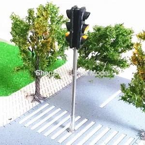 China model Mini Traffic Lights,3 aspect signal metal lamppost,model three aspect signal light,HO guage traffic lights on sale