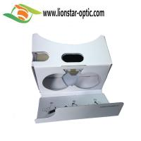 Quality white google cardboard virtual reality glasses with custom design for sale