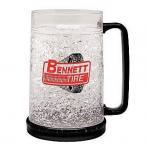 Quality PMB-450L plastic beer mug PS material beer mug custom LOGO ICE BEER MUG for sale