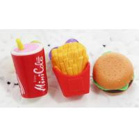 China china 3D food eraser for gift use for kids,safety material on sale