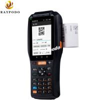 Quality QR Code Handheld Barcode Scanner 4'' 4G Bluetooth 4.0 With NFC RFID Printer Bulit In for sale