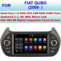 Buy cheap Multi Language 2008+ Fiat Qubo Vehicle DVD Player , Fiat GPS System Car Stereo from wholesalers
