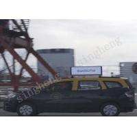 Quality Pixel Pitch 4mm Taxi Roof Signs , Taxi Top Led Screen DC 9 - 36V Power Supply for sale