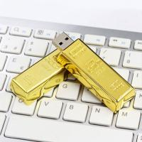 Quality Golden Plated Metal USB Flash Drive Fashion Gift Custom Design Welcome for sale