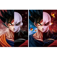 Quality CMYK 30x40cm DBZ Lenticular Pictures For Promotion for sale