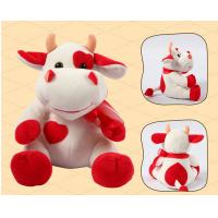 Quality Sitting Pose RedBull Red Cow Milka Cow Plush Toys for sale