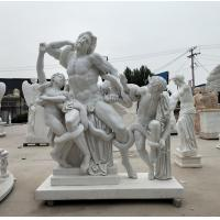 Quality Museum exhibition marble sculptures Laocoon replica stone statue,stone carving supplier for sale