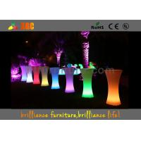 Quality LED lighting Cocktail table / 100-240V Outdoor Furniture for party & exhibition for sale