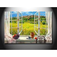 Quality Eco - Friendly Fashion Window Scenery Handmade Oil Painting mcfj1010 for sale