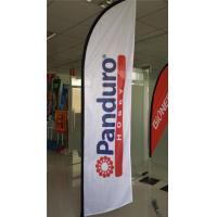 Best Waterproof Feather Beach Flag Banner , Outdoor Event Flags Knitted Fabric wholesale