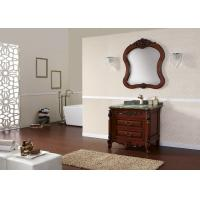 China Customized Classic Bathroom Cabinets Wood Funiture Floor Stand Vanity Unit With Sink on sale