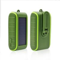 Quality Portable Solar Powered Hand Generator Power Bank Solar Charger Emergency Power Bank Green Color 6000mah/8000mah for sale