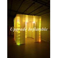 China portable cube photo booth inflatable tents sale with changing color led lights on sale