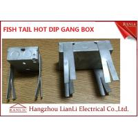 Quality Hot Dip Finish GI Electrical Gang Box / Gang Electrical Box 3 inch by 3 inch for sale