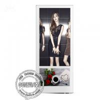 China Wall Mount 18.5''+10.1'' LCD Display Metal Case Toughened Glass Android Advertising Player on sale