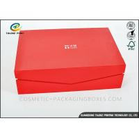 Buy Crimson Custom High End Cardboard Gift Boxes For Clothes / Cosmetic at wholesale prices
