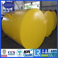 Quality Anchor Pendant Steel structured offshore mooring buoy, Yellow Painted steel structure Mooring Buoy for sale