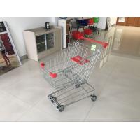 Red Wire Shopping Trolley With zinc plated clear coating 80L Asian Style