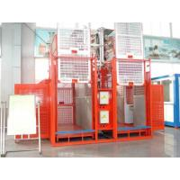 China Frequency Conversion Control System Construction Lift Rental , Double Cage Export Construction Hoist Hire on sale