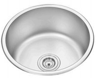 Buy cheap D41CM Plating undermount Round Single Bowl kitchen sink from wholesalers