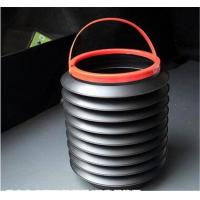 Best 4L folded muti-function flexible bucket Car Wash folded outdoor plastic collapsible bucket wholesale