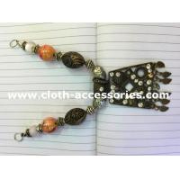 China Copper Colored Handmade Beaded Necklaces Vintage Style 15cm Length on sale