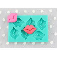 Best Sexy Lip Rectangle Cake Silicone Molds , 6 Holes Silicone Chocolate Bar Molds wholesale