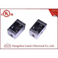 """Quality 1/2"""" 3/4"""" Two Gang Electrical Box Waterproof Terminal Box Powder Coated , UL Listed for sale"""