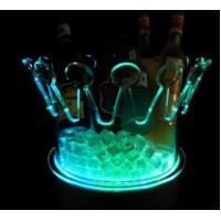 Buy cheap Led Light up acrylic ice bucket Crown/flash ice bucket from wholesalers