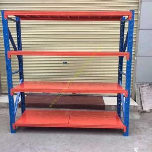 China Custom Fitted Warehouse Storage Racks / Medium Duty Steel Pallet Rack Shelving on sale