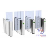China Luxury Speedlane barrier flap door optical rapid lane turnstile with visible LED high sliding glass on sale