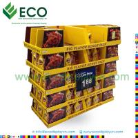 Quality Easy Assemble Cardboard Pallet Display for Soy, Stackable Box for sale