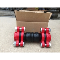 Quality 1 1/4'' Scerwed End Rubber Expansion Joint With Double Sphere for sale