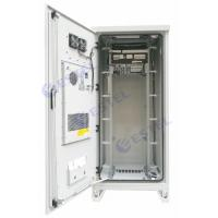 Quality Weatherproof 40U Air Conditioner Type Outdoor Telecom Cabinet With Emerson Power Supply for sale