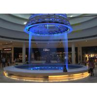 Quality Beautiful String Water Curtain Fountain , Programmable Water Screen Fountain for sale