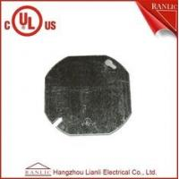 China Octangular Electrical Metal Conduit Box Cover With Middle Hole 1/2 inch or 3/4 inch on sale