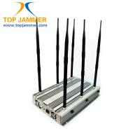 Quality 6 Bands 90W 15w/band Desktop Jammer Blocker GSM DCS 3G 4G LTE Wimax UHF VHF Radio 315 433 for sale