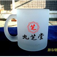 Best 7102 Scrub glass mug handle cup printing your LOGO from china wholesale