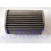 Quality 316L Stainless Steel Pleated Filter Element For Gas Filtration / Oil Filtration for sale