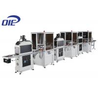 China Three Color Automatic Screen Printing Machine / UV Dryer Flatbed Printing Machine on sale