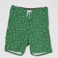 China Green Patterned Polyester Board Shorts , All Over Print 4 Way Stretch Shorts on sale