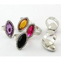 Best Unisex Custom Color silver Western Jewelry Rings with Clear Crystal for Party wholesale