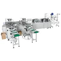 Quality 2 In 1 Full Automatic Outward Face Mask Production Line High Spped 110-120pcs / Min for sale