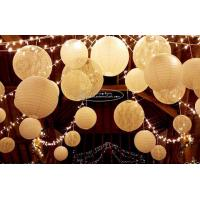 Quality Carved Round Hanging Paper Lanterns Indoor For Party Decoration for sale