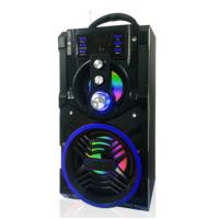 Best New design Outdoor home use Portable Bluetooth Boombox Speaker machine support usb fm aux mic with LED Light wholesale